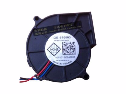 Picture of Delta Electronics BFB0712HH Server-Blower Fan BFB0712HH, -BK1Y