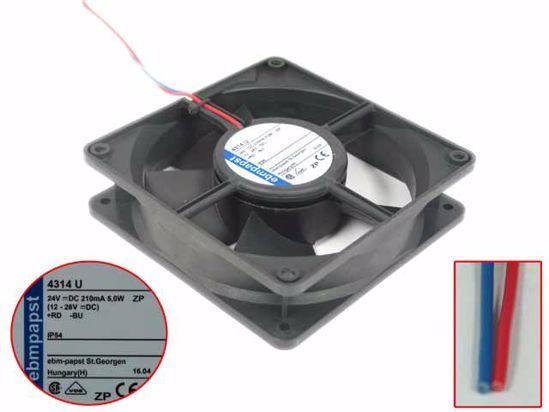 Dc 24v 5 0w  120x120x32mm 4314 U Ebm-papst 4314 U Server - Square Fan  Pchub Com