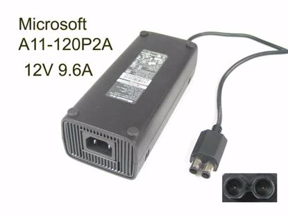 Picture of Microsoft A11-120P2A AC Adapter 5V-12V 12V 9.6A, 2Tip W/Pin, C14, NEW