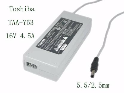 Picture of Toshiba AC Adapter (Toshiba) AC Adapter 13V-19V 16V 4.5A, 5.5/2.5mm, 2P