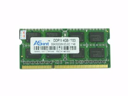 Picture of ASint SSA302G08-GDJEC Laptop DDR3-1333 4GB, DDR3-1333, PC3-10600S, SSA302G08-GDJEC, Lapto