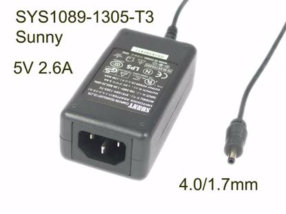Picture of Sunny SYS1089-1305-T3 AC Adapter 5V-12V SYS1089-1305-T3, 4.0/1.7mm, IEC C14 NEW