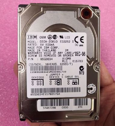 "Picture of IBM DSOA-21080  810MB IDE 2.5"" hard disk"