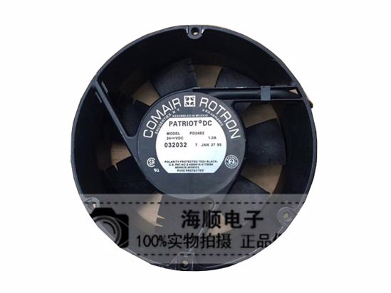 Picture of Comair Rotron PD24B2 Server-Round Fan PD24B2, Alloy Framed