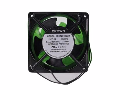 Picture of CROWN 1GE12038B2H Server-Square Fan 1GE12038B2H, Alloy Framed