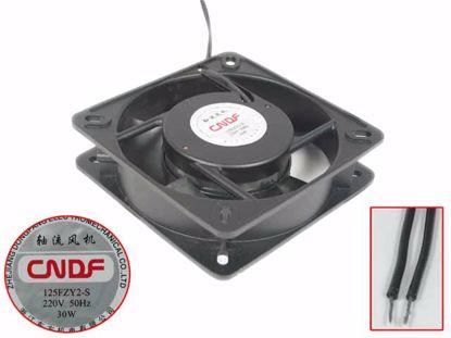 Picture of CNDF 125FZY2-S Server - Square Fan 220V30W, Alum, sq135x135x32mm, 2W, New