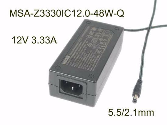 Picture of MOSO MSA-Z3330IC12.0-48W-Q AC Adapter 5V-12V 12V 3.33A, Barrel 5.5/2.1mm, C14, New