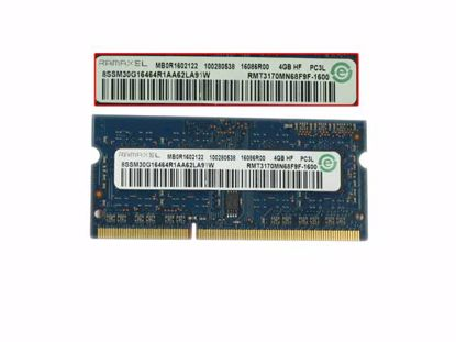 Picture of RAMAXEL RMT3170MN68F9F-1600 Laptop DDR3L-1600 4GB, DDR3L-1600, PC3L-12800S, RMT3170MN68F9F-1600,