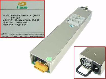 Picture of TWIN PSM2-PSG-2A00V Server - Power Supply PSM2-PSG-2A00V (S) (ROHS), B013180005, 1000W
