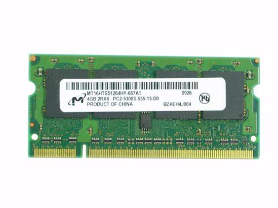 Picture of Micron MT16HTS51264HY-667A1 Laptop DDR2-667 4GB,  PC2-5300S, MT16HTS51264HY-667A1, L