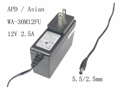Picture of APD / Asian Power Devices WA-30M12FU AC Adapter 5V-12V WA-30M12FU