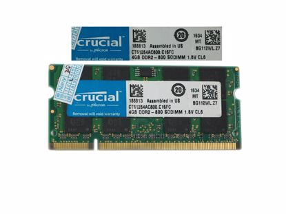 Picture of crucial CT51264AC800.M16FC Laptop DDR2-800 4GB, DDR2-800, PC2-6400S, CT51264AC800.M16FC, Lapt