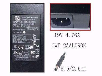 2AAL090K 19V 4.736A,5.5/2.5mm, IEC C14