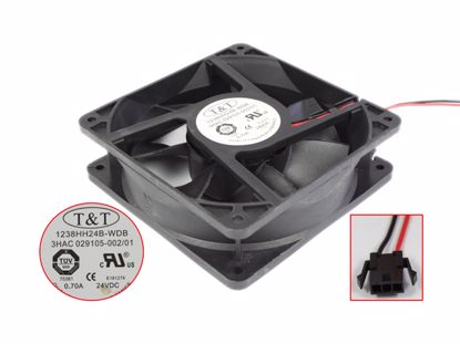 Picture of T&T 1238HH24B-WDB Server - Square Fan 24V0.70A, sq120x120x38mm, 100x2Wx2P