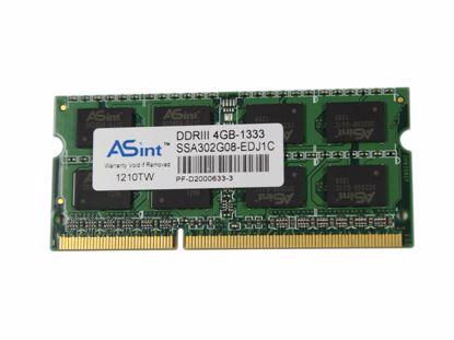 Picture of ASint SSA302G08-EDJ1C Laptop DDR3-1333 4GB, DDR3-1333, PC3-10600S, SSA302G08-EDJ1C, Lapto