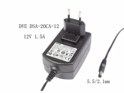 Picture of DVE DSA-20CA-12 AC Adapter 5V-12V 12V 1.5A, 5.5/2.1mm, EU 2P